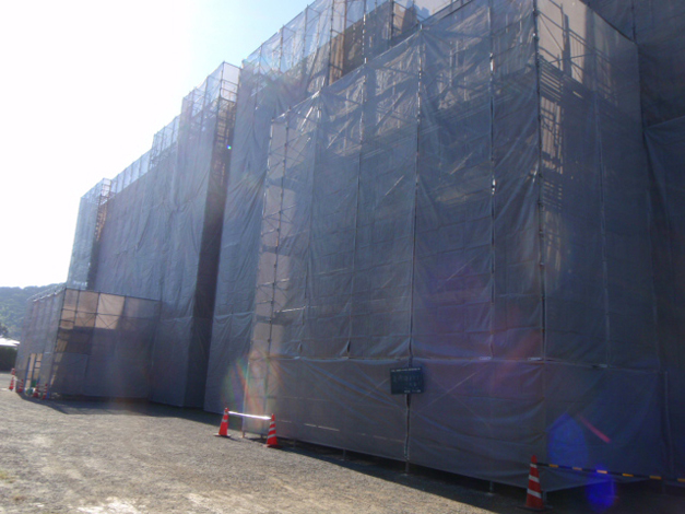 香椎第3中学校校舎外壁改修工事2