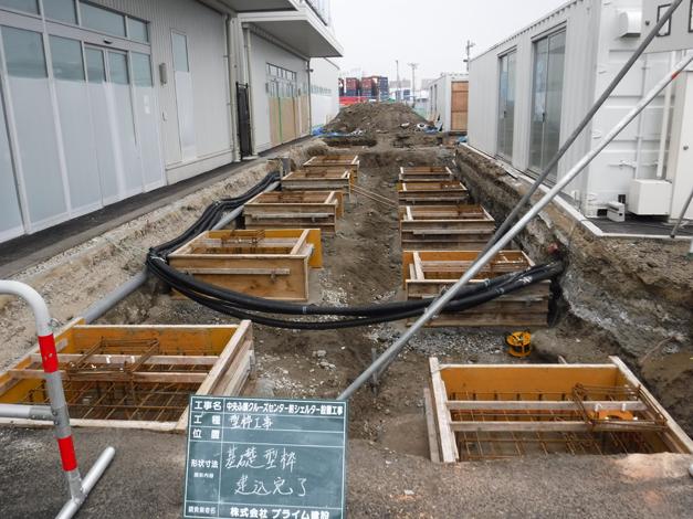 中央ふ頭クルーズセンター前シェルター工事1